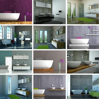 Quels rev tements muraux choisir pour votre salle de bain - Revetements muraux cuisine ...